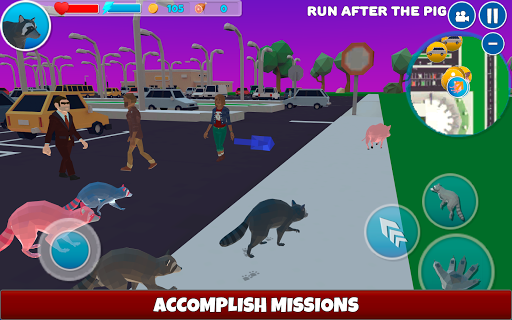 Raccoon Adventure: City Simulator 3D  screenshots 12