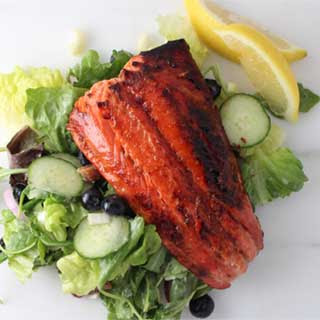 Sugar-Lemon Cured Sockeye Salmon