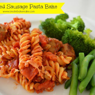 Curried Sausage Pasta Bake.