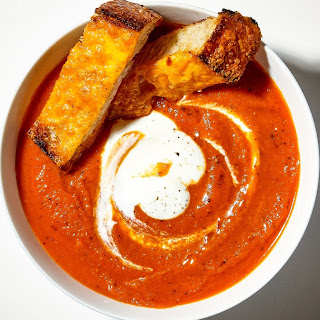 Creamy Tomato Soup with Cheese Toasties.