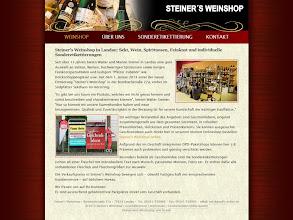 Photo: Referenz Webdesign: Steiner's Weinshop (XHTML 1.1)