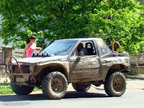 Photo: Even our 4x4 is full of mud!