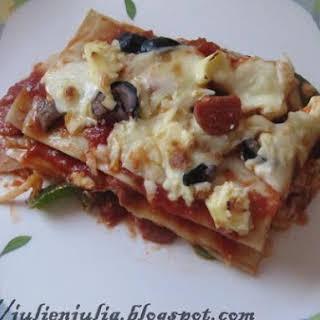 Pepperoni & Cheese Lasagna.