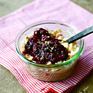 Bircher-style Granola with Berry-Cherry Compote