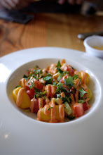 Photo: watermelon and tomato salad with li hing dressing