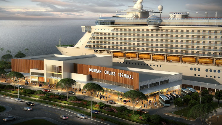 An artist's impression of the new Durban cruise terminal. Graphic: SUPPLIED