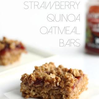 Strawberry Quinoa Oatmeal Bars