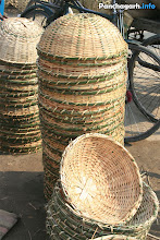 Photo: Bamboo items in a village market of Panchagarh