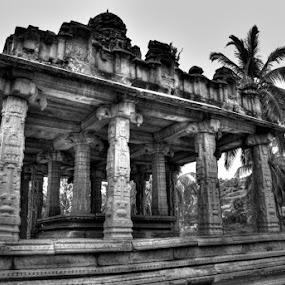Ancient Kingdom by Aparajita Saha - Buildings & Architecture Public & Historical ( hampi, monument, india, historical, indian architechture, pillars )