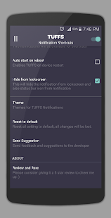 TUFFS Notification Shortcuts- screenshot thumbnail