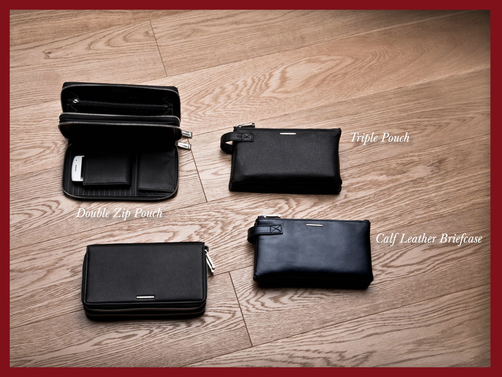 Photo: Ermenegildo Zegna - Holiday Season Selection - A refined line of zip pouches for your business. Shop at http://bit.ly/X47GwN