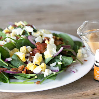 Spinach & Bacon Salad with Homemade Tarragon Dressing