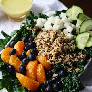 Kale-Quinoa Salad with Orange Vinaigrette.