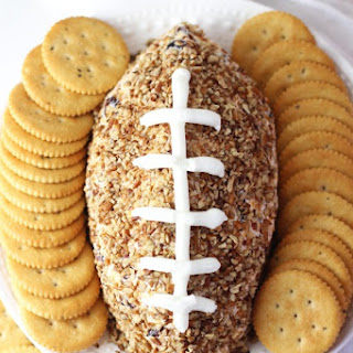 Easy Football Cheese Ball