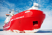 The SA Agulhas II in the Antarctic's Weddell Sea on Thursday January 10 2019. The ship is considered one of the world's top research vessels and will investigate the underside of massive floating ice shelves that may reveal information about global warming.