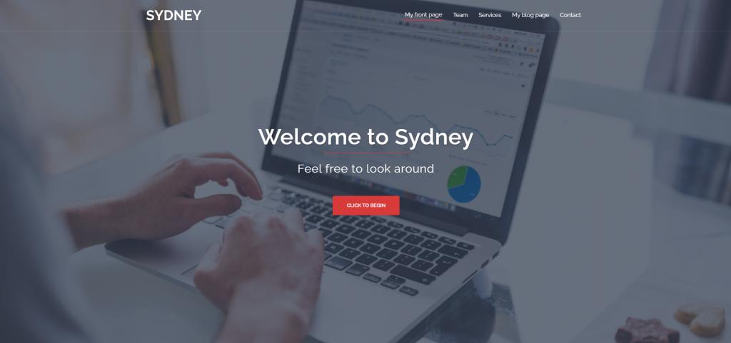 Screenshot do tema Sydney