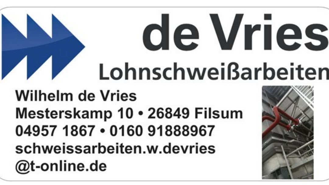 De Vries Lohnschweissarbeiten Schweiß Service