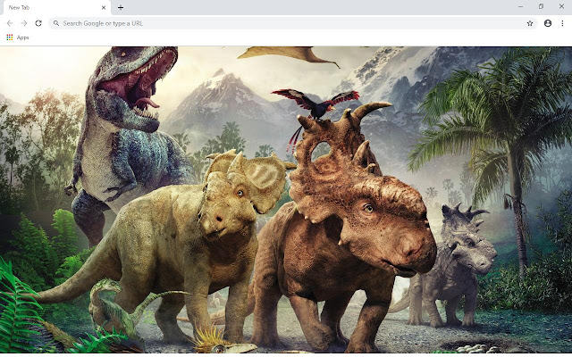 Dinosaurs Wallpapers and New Tab