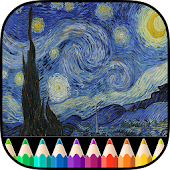 Adult Coloring Book Van Gogh