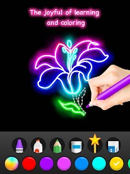Learn To Draw Glow Flower APK screenshot thumbnail 23