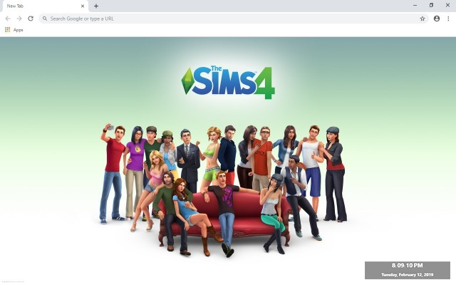 The Sims FreePlay Custom New Tab