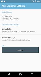 Launcher for KODI 1.2.0