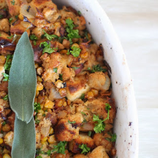 Fried Corn, Sage and Bacon Stuffing