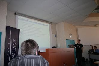 Photo: Stéphane présente JAX-RS.