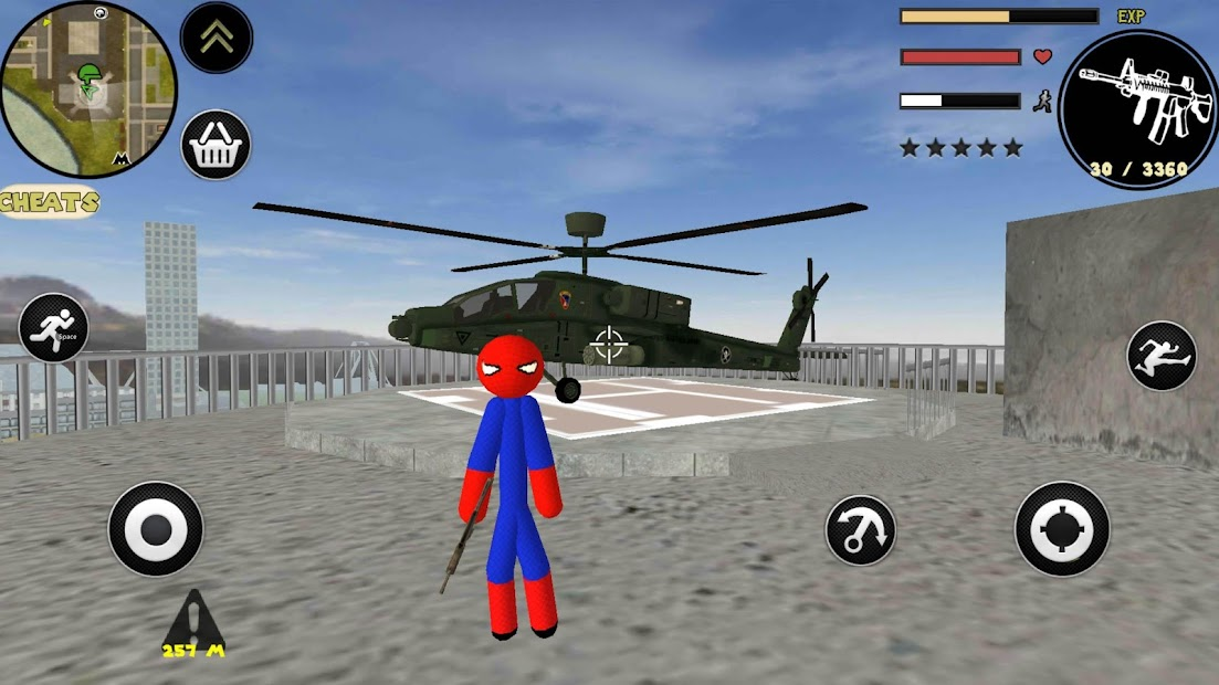 Spider Stickman Rope Hero Gangstar Crime screenshot 4