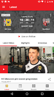 MK Dons Official App- screenshot thumbnail