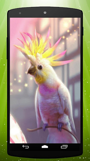 Pink Parrot Live Wallpaper