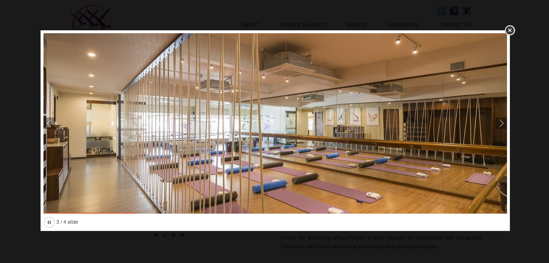 Infrastructure example of a gym
