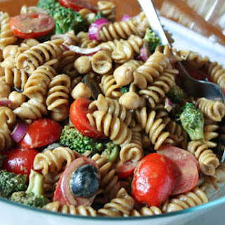 Pasta Salad with Balsamic Basil Vinaigrette