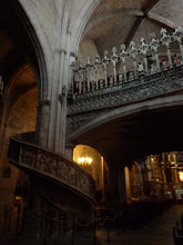 Photo: Morella Basilica interior - acces to unusual choir and organ loft