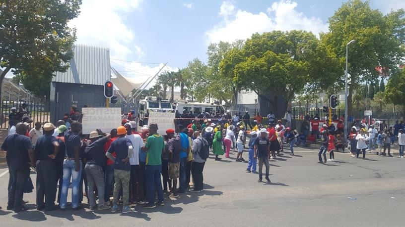 Protestors have started arriving at the Vodacom headquarters in Midrand.