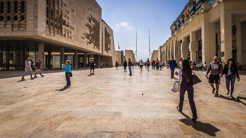 Tourists in Malta