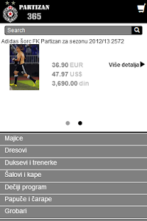 Partizan365 Online Shop- screenshot thumbnail