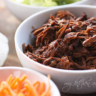 Easy Slow Cooker Shredded Beef.