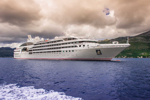 Ponant's Le Soleal has 132 cabins and suites for 264 passengers and 140 crew members.