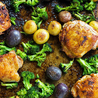 Sheet Pan Chicken with Roasted Broccoli and Potatoes Recipe
