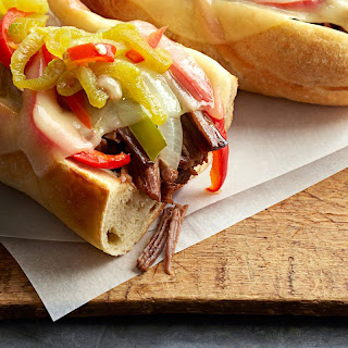 Philly-Style Pulled Beef Sandwiches