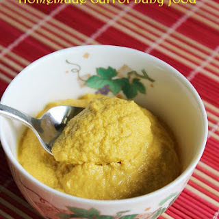 Carrot Baby Food