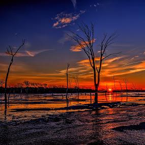 Frozen Lake by DE Grabenstein - Landscapes Sunsets & Sunrises (  )