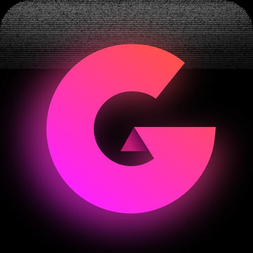 Glitch Photo Editor -VHS, glitch effect, vaporwave Icon