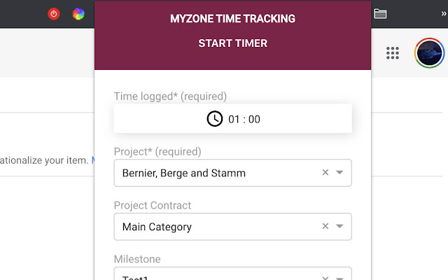 MyZone Time Tracking