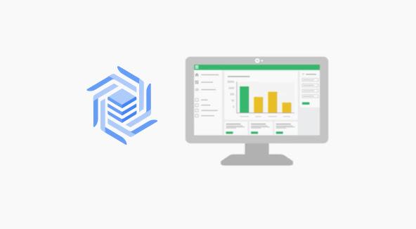 Captura de tela de um vídeo. Na imagem, há um monitor de computador exibindo dados em um gráfico. Do lado do monitor, está o ícone do Cloud Bigtable