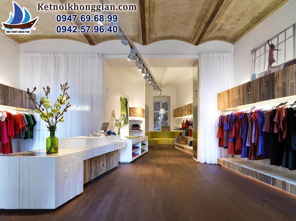thiết kế shop thời trang có chiều sâu