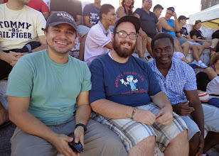 Photo: While visiting Brazil, Kern had the opportunity to go to an American football game with students he worked with at UFPB.