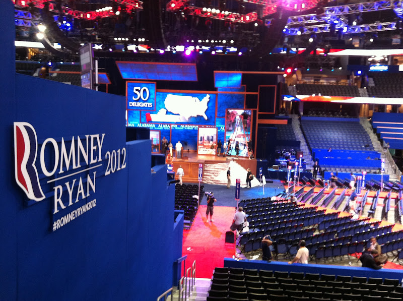 Photo: Republican National Convention preps in Tampa, FL.