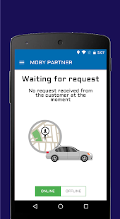 Moby Travels Cab Drivers App - náhled